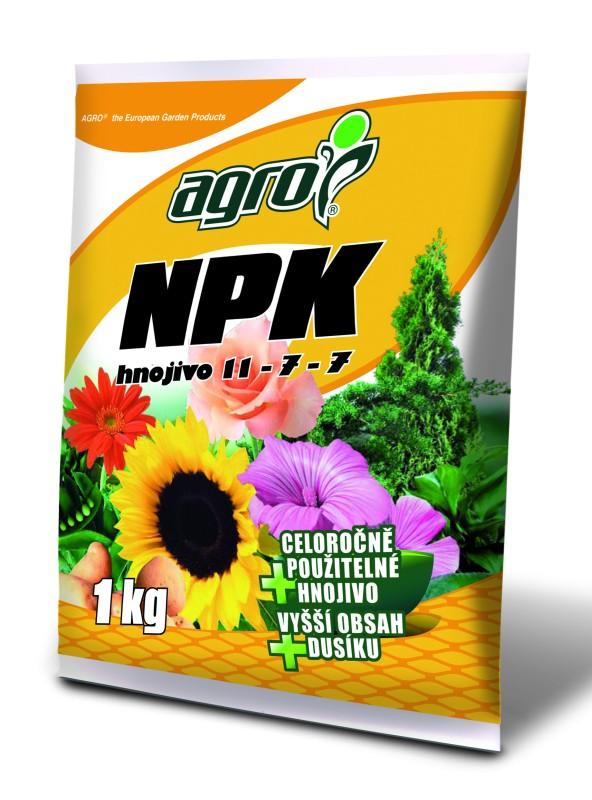 NPK - hnojivo 11 - 7 - 7 --- 1 kg