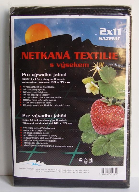 Netkaná textilie - výsek JAHODY - 1,6 x 4,2 m