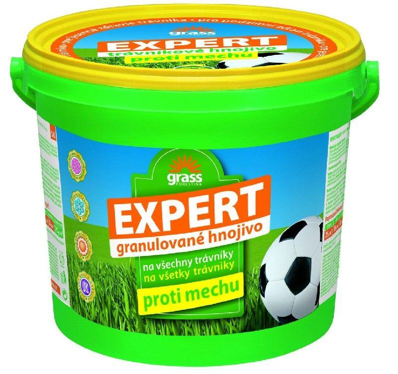 Expert - trávníkové hnojivo proti mechu - 5 kg - kyblík