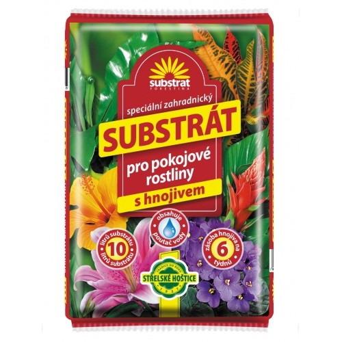 Substrát pro pokojové rostliny s hnojivem - 10 litrů