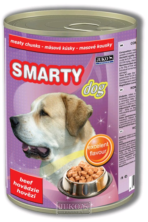 Smarty chunks DOG BEEF - hovězí - 1250 g